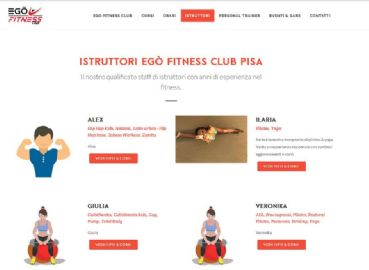 Websites for gyms and fitness centers